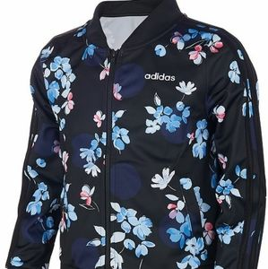 Adidas floral bomber jacket